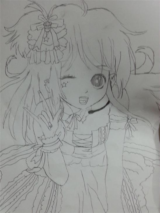 大全_动漫女孩简笔画大全_漫画少女图片铅笔画_二次元少女简笔画大全